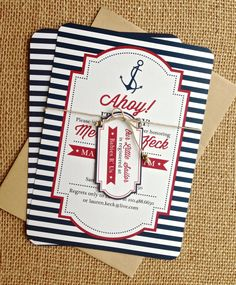 Ahoy It's a Boy Baby Shower Invitation Set by withlovegreetings, $18.00