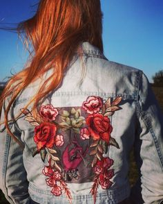 A personal favourite from my Etsy shop https://www.etsy.com/uk/listing/565226114/painted-and-embroidered-denim-jacket
