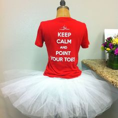 Dance studio fundraiser t-shirts. They sold over half the first day with this adorable display! www.covetdance.com