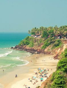 *Palolem Beach* in Goa is also known as the paradise beach is another famous beach of south Goa. The amazing shape of the beach will let you see the whole beach standing at one spot. Don't miss the kayaking and dolphin boat rides, where you can sight dolphins, Butterfly Island and honeymoon island.  #Palolem #Beach #Goa - #tripraja