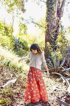 Throw a sweater over a maxi dress for Fall. @Jenna Nelson Nelson Nelson Dean Autumn in CA!