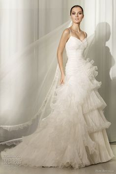 pepe botella ruffled wedding dresses