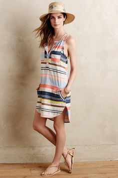 Mixed Stripe Tunic by The Odells #anthrofave #anthropologie