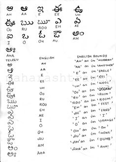 how to read and write in telugu language