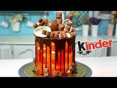 Pastel Chocolate Kinder/ Chocolate Drip Cake / DANI FLOWERS - YouTube