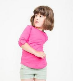 Meisjes shirt lange mouw, tabbed, 150 gr/m2