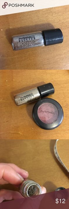 MAC glitter pigment reflects antique gold MAC glitter pigment reflects antique gold. Little goes a long way! Used some but still full. This was part of a pigment travel kit so the size is not the same size you would purchase there original pigment colors in. MAC Cosmetics Makeup Eyeshadow