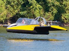 With the aid of horizontal integrated wings, The Flying Hovercraft, $190,000, soars up to 70 mph at an incline of 30 percent over sand, water, ice, snow and jumps obstacles of up to 20 feet on land.