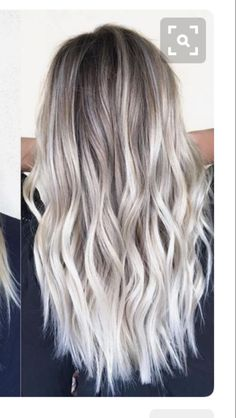 Golden Blonde Balayage for Straight Hair - Honey Blonde Hair Inspiration - The Trending Hairstyle Brown Blonde Hair, Gray Hair, Blonde Hair For Winter, Highlights In Blonde Hair, Silver Blonde Ombre, Ash Blonde Bob, White Ombre Hair, Ash Ombre, Blonde Waves