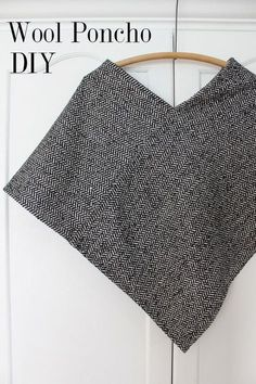 SEW: cute and simple wool poncho (also includes measurements for an adorable 3T version)