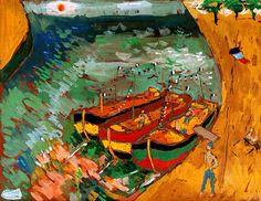 Marina'da Tekneler by Fikret Mualla Saygı.