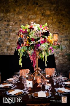 If you want to make a statement.  The tall overhanding flowers are a great idea for eye catching centres.