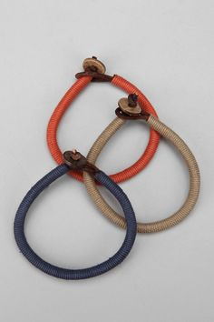 Twine-wrapped leather cord bracelet - $14