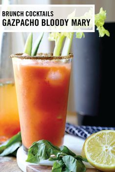 Ready in no time, this Gazpacho Bloody Mary recipe will be a staple for last-minute brunch gatherings and elaborate morning spreads alike. To try your hand at this classic savory cocktail, make sure to click and grab all the ingredients you'll need.