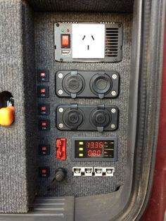 Example auxiliary power panel for drawer system in back of LX470: