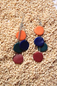 hand made polimer clay earing