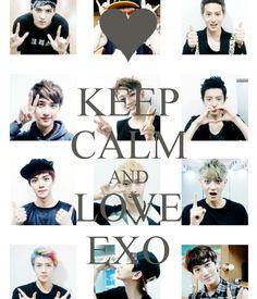KEEP CALM AND LOVE EXO