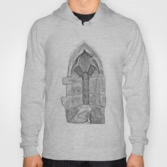 Medieval Church Window Hoody by Rainer Steinke - $38.00 church window drawing pencil bleistift zeichnung fenster kirche mittelalter medieval #church #window #drawing #pencil #bleistift #zeichnung #fenster #kirche #mittelalter #medieval