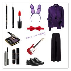 """""""Bonnie The Bunny - Five Nights at Freddy's"""" by dangerouskawaii ❤ liked on Polyvore featuring Delpozo, Miss Selfridge, MICHAEL Michael Kors, Nordstrom Rack, Gucci, NARS Cosmetics, MAC Cosmetics, Christian Dior, makeup and women"""