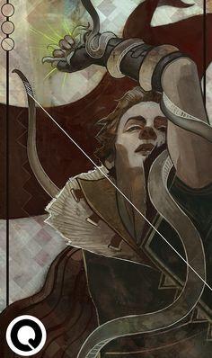 Inquisitor Tarot Commission # 11 by qissus on DeviantArt Medieval Fantasy, Dark Fantasy, Illustrations, Illustration Art, Dragon Age Tarot Cards, The Magician Tarot, Character Drawing, Character Design, Pinturas Disney