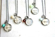 DIY word pendant... just take newspaper, modpodg, and clear stone