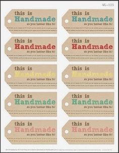 Harris Sisters GirlTalk: Free Printables for Handmade Christmas Gifts Knit and Crochet Gift Tags