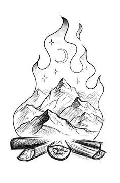 Tattoo Ideas #tattoo #tattooideas #TATTOO #Tattoo Mini Drawings, Art Drawings Sketches Simple, Pencil Art Drawings, Doodle Drawings, Doodle Art, Cute Love Drawings, Drawing Ideas, Unique Drawings, Sketch Art