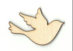 Flying Bird  Laser Cut Unfinished Wood Shapes  Variety of Sizes Craft Supply DIY BRD22