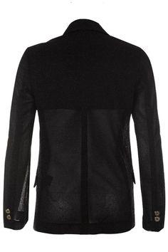 Padded Shoulder Black Blazer(Coming Soon) #Romwe