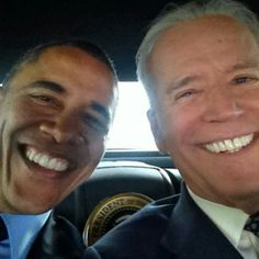 selfie shot of the President and Vice President