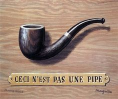 René Magritte.  (and I immediately think of Sherlock Holmes.)