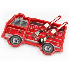 Little boys are so fun!  Me Time Fire Engine...my boys would eat all their food off this, so cute!!!