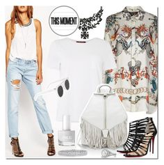 Styling White T-Shirt by elena-777s on Polyvore featuring polyvore fashion style Roberto Cavalli MaxMara ASOS Christian Louboutin Rebecca Minkoff Givenchy Palm Beach Jewelry David Yurman Alexander McQueen clothing