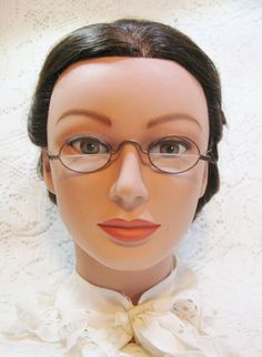 bd1fc1f3e4 Antique Wire Rim Oval Bifocal Spectacles ~ Metal 19th Century Eyeglasses  Ladies Mens ~ Vintage Touch