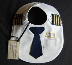 Airline Pilot Baby Bibs - Hand Made, High Quality - GeekBabyClothes.com GeekBabyClothes.com