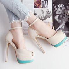 Dresswe.comサプライ品ファッションピープトウスティレットヒールブライダルシューズ プロム 靴 (2)