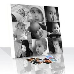 Your Memories in a Photo Collage Canvas Print Photo Collage Canvas, Cute Baby Photos, Black And White Canvas, Pet Portraits, Love Art, Artsy Fartsy, Cute Babies, Polaroid Film, Canvas Prints