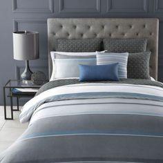 Oake Cameron Blue Collection | Bloomingdale's shams (reg.)$90; Sheet set (reg.) $260; right size though.
