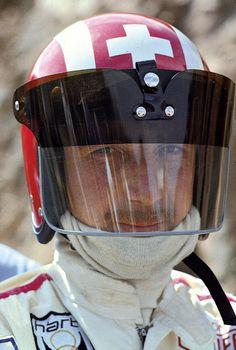 Jo Siffert using a large visor