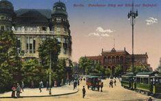 Berlin, Tiergarten, Berlin: Potsdamer Platz mit Blick auf Bahnhof