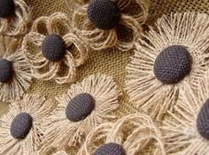 Burlap Flower Assortment  Decorations for Weddings by resadavid, $15.95