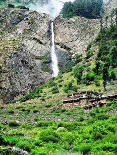 A beautiful Water Fall in Kalaam Valley, Swat. Pakistan.