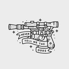 Blast 'Em!  Never too many Star Wars designs! #graphicdesign #design #art #artwork #drawing #handdrawn #linework #tattoo #starwars #illustration #slowroastedco #blackwork #blackworknow by liamashurst