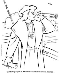 Revoltionary War Tea Party Coloring Page School History