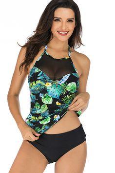 aeadd2f4b77794 Hualong Sexy Sleeveless Halter Floral Two Piece Swimwear 3. Online Store ...