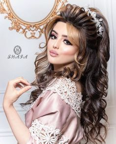 Long Hair Wedding Styles, Wedding Hairstyles For Long Hair, Wedding Hair And Makeup, Bridal Makeup, Hair Makeup, Long Hair Styles, Summer Hairstyles, Baddie Hairstyles, Headband Hairstyles