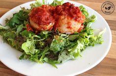 Tongrolletjes uit de oven met tomatensaus