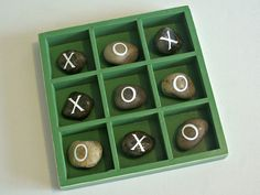 We actually made this rock tic tac toe game a few years ago for Father's Day. It sits on our front porch and still gets played a lot during the warmer months. When Ammon was younger he loved playing tic tac toe with his dad so I thought an outdoor version would be a fun …