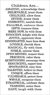 from a-z about children :)