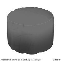 Modern Dark Grey to Black Gradient Pouf